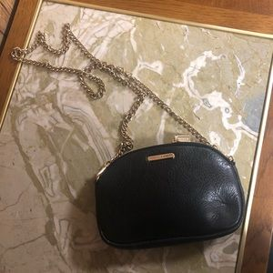 Rebecca Minkoff Black crossbody with gold chain🤩